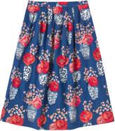 Cath Kidston Blossom Vases Pleated Midi Skirt