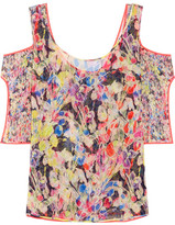 Jason Wu Cutout Floral-print Silk-georgette Top - Pink