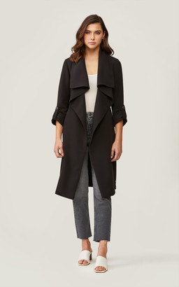 Soia & Kyo ORNELLA knee-length coat with cascade draped collar