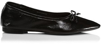 Schutz Arissa Point-Toe Leather Ballet Flats