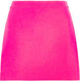 Versace Neon Wool-crepe Mini Skirt - Fuchsia