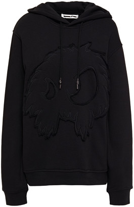 McQ Embroidered French Cotton-blend Terry Hoodie