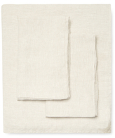 Melange Home Belgian Linen Plain Hem Sheet Set