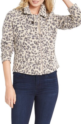 Nic+Zoe Faded Leopard Sweater Jacket