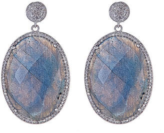 Forever Creations Usa Inc. Forever Creations Silver 33.4 Ct. Tw. Diamond & Labradorite Earrings