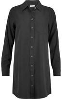 Equipment Brett Washed-Silk Mini Shirt Dress
