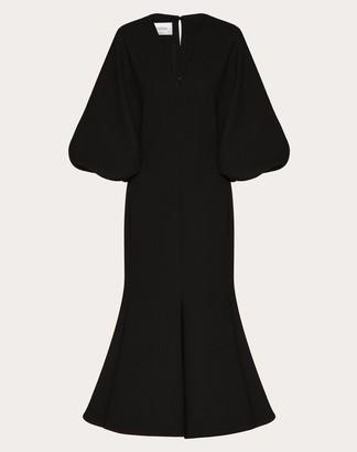 Valentino Stretch Double Crepe Wool Dress Women Black Wool 98%, Elastane 1% 36