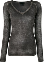 Avant Toi V neck top - women - Silk/Cashmere - M