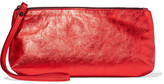 Ann Demeulemeester Metallic Textured-leather Clutch - One size
