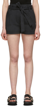 3.1 Phillip Lim Black Belted High-Waist Shorts