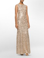 Calvin Klein Sequined Sleeveless Gown