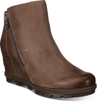 Sorel Women Joan Of Arctic Wedge Zip Booties Women Shoes