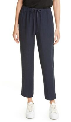 Eileen Fisher Tie Waist Ankle Pants