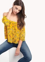 Ella Moss Poetic Floral Off Shoulder Blouse