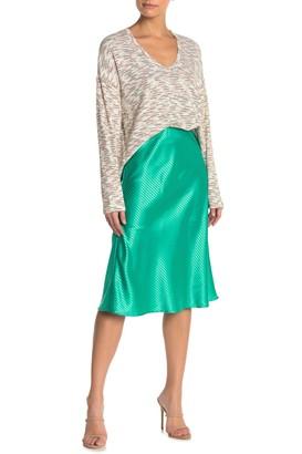 CODEXMODE Satin Bias Cut Midi Skirt