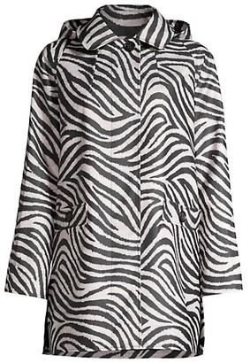 Jane Post Zebra Striped Raincoat