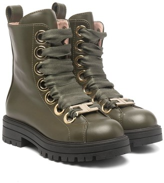 Elisabetta Franchi La Mia Bambina Lace-Up Ankle Boots