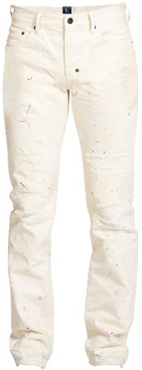 PRPS Destroyed & Paint Splattered Slim Fit Jeans