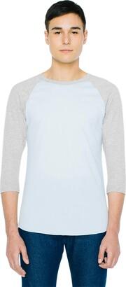 American Apparel Unisex 50/50 Raglan 3/4 Sleeve T-Shirt - USA Collection