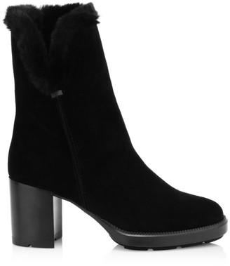 Aquatalia Ilisha Faux Fur-Lined Suede Boots
