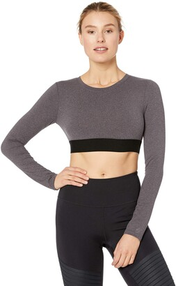 Soffe Womens Grace Long Sleeve Crop Top