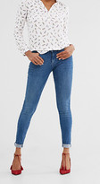 Esprit Stretch jeans with openwork trims