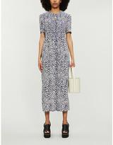 Baum und Pferdgarten Adamaris leopard-print woven midi dress
