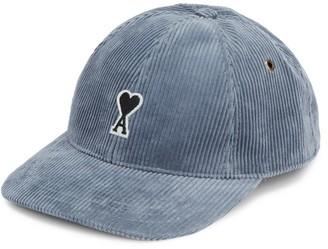 Ami Paris Casquette De Coure Corduroy Baseball Cap