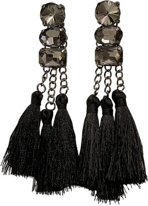 Deepa Gurnani Black Crystal Earrings