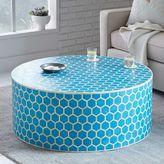Bone Inlaid Round Coffee Table