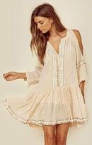 Miss June athena slit shoulder dress