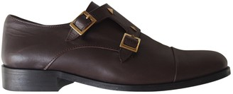 Thomas Laboratories Anne Brown Leather Flats