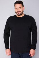 Yours Clothing BadRhino Black Long Sleeved T-Shirt