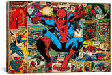 iCanvas Marvel Comics Book Spider-Man on Spider-Man Covers and Panels Graphic Art on Wrapped Canvas