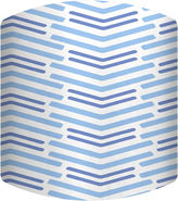 Asstd National Brand Blue Lines Long Drum Lamp Shade