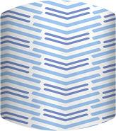 Asstd National Brand Blue Lines Long Drum Lamp Shade
