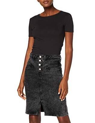 New Look Women's Front Yoke Acid Skirt,(Manufacturer Size:)