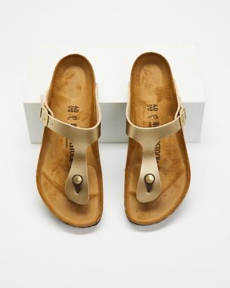 Birkenstock Women's Gold Flat Sandals - Gizeh Birko-Flor Regular - Women's - Size 36 at The Iconic