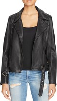 Scotch & Soda Leather Moto Jacket