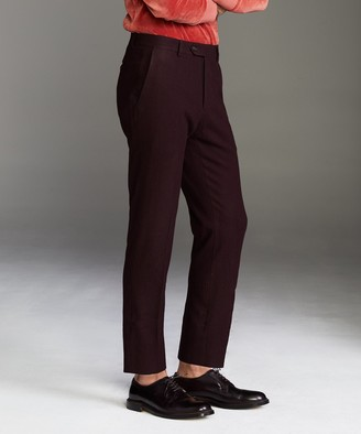 Todd Snyder Sutton Wool Donegal Trouser in Burgundy