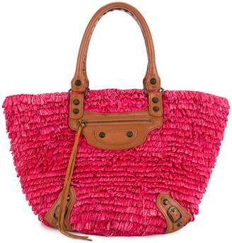 Balenciaga Pre Owned Fringe Tote Bag