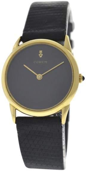 Corum 18K Yellow Gold / Leather 29 mm Womens Watch