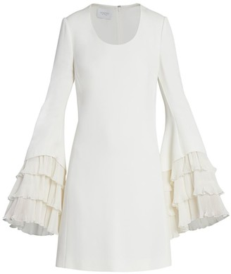 Giambattista Valli Plisse Tiered Crepe Mini Dress