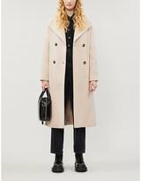 Pinko Ideal waterfall-lapel wool-blend coat