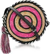 Rebecca Minkoff Pink Multi Straw Circle Crossbody