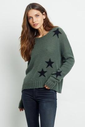 Rails Perci Olive Green Crew Neck Sweater - XS | green - Green/Green