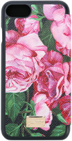 Dolce & Gabbana rose print iPhone 7 case - women - Leather - One Size