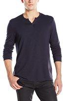 Joe's Jeans Men's Wintz Long-Sleeve Luxe Solid Henley Shirt