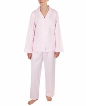 Miss Elaine Petite Brushed Back Satin Pajama Set