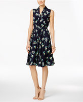 Charter Club Petite Printed Belted Shirtdress, Only at Macy's